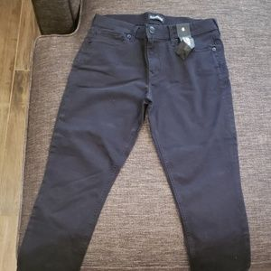 NWT Express Black Mid Rise Crop Jeans